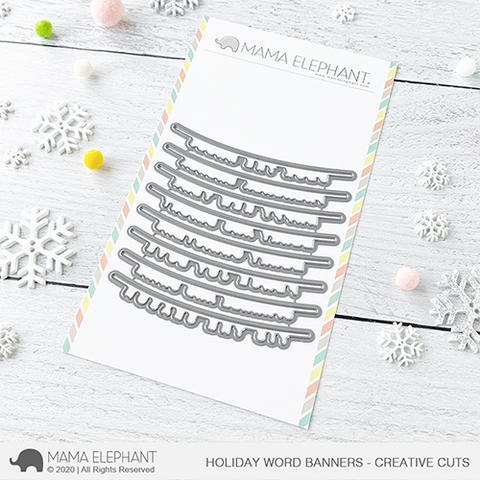 Mama Elephant - Holiday Word Banners - Creative Cuts