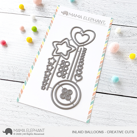 Mama Elephant - Inlaid Balloons - Creative Cuts