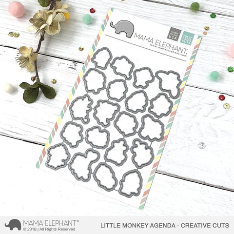 Mama Elephant - Little Monkey Agenda - Creative Cuts