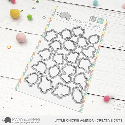 Mama Elephant - Little Chickie Agenda - Creative Cuts