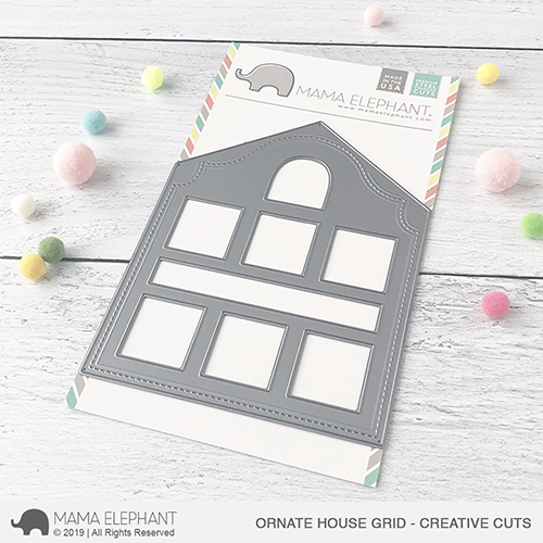 Mama Elephant - Ornate House Grid - Creative Cuts
