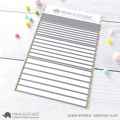 Mama Elephant - Quick Stripes - Creative Cuts