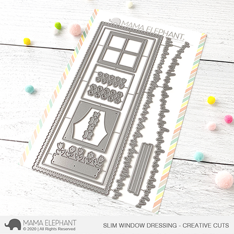 Mama Elephant - Slim Window Dressing - Creative Cuts