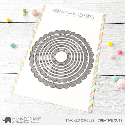 Mama Elephant - Stacked Circles - Creative Cuts