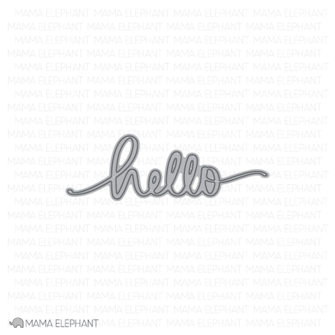 Mama Elephant - Hello Script - Creative Cuts