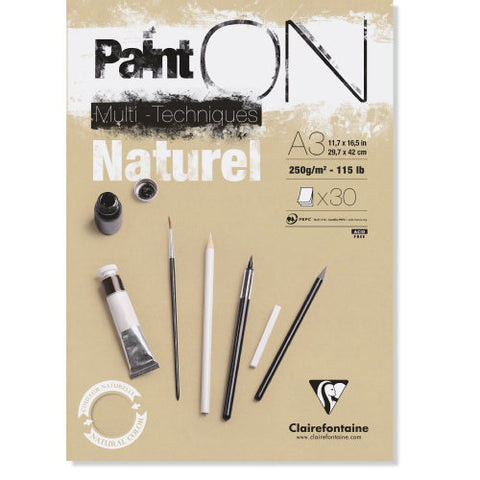 Clairefontaine - PaintOn Multi Techniques Natural A4 250gr