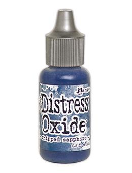 Tim Holtz Distress® Oxide® Re-Inker Chipped Sapphire, 0.5oz Re-Inker Tim Holtz