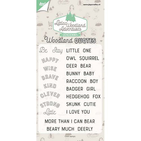 Dendennis - Clear Stamps LWA Woodland Quotes