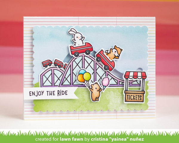 Lawn Fawn - coaster critters slide on over add-on