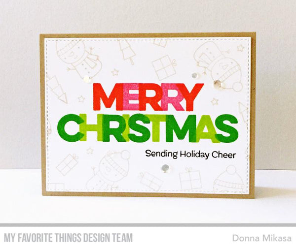 My Favorite Things - Merry Christmas Blend Clear Stamps