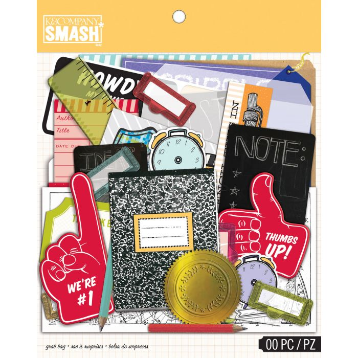 American Crafts - K&Company Smash school grab bag