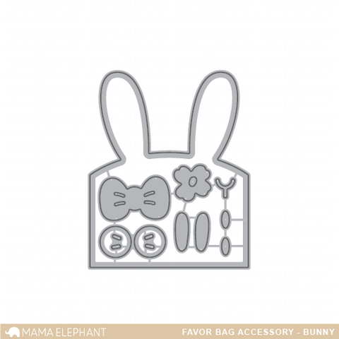 Mama Elephant - Favor Bag Accessory - Bunny - Creative Cuts