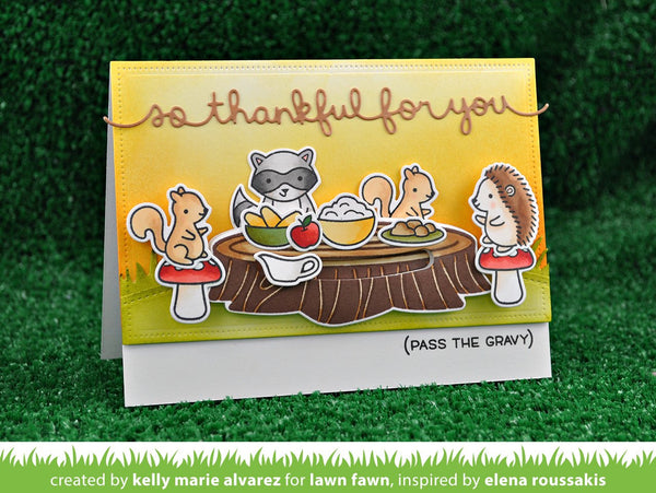 Lawn Fawn - so thankful border