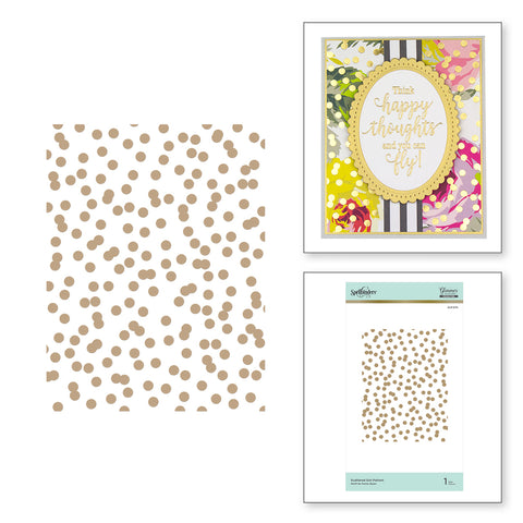 Spellbinders - Scattered Dot Pattern Glimmer Hot Foil Plate