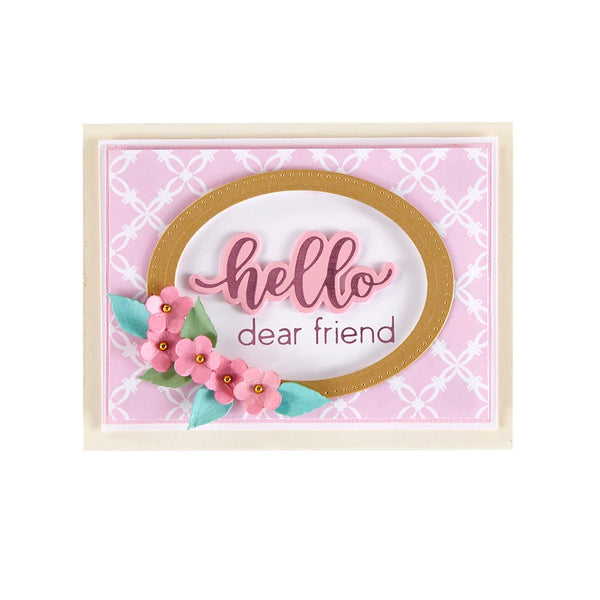 Spellbinders - Hello Dear Friend Hot Foil Plate