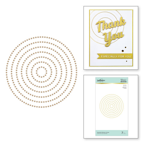 Spellbinders - Essential Glimmer Circles Hot Foil Plates