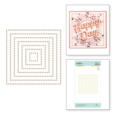 Spellbinders - Essential Glimmer Squares Hot Foil Plates