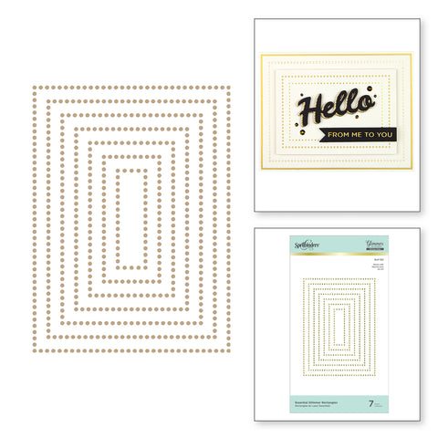Spellbinders - Essential Glimmer Rectangles Hot Foil Plates