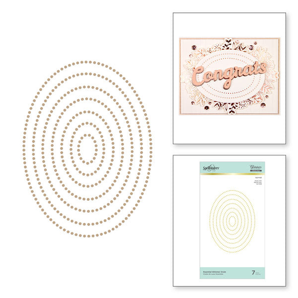 Spellbinders - Essential Glimmer Ovals Hot Foil Plates
