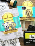 Ranger - Simon Hurley create Photopolymer stamp Puppy puns