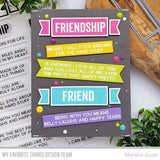 My Favorite Things - What Friendship Means Clear Stamps