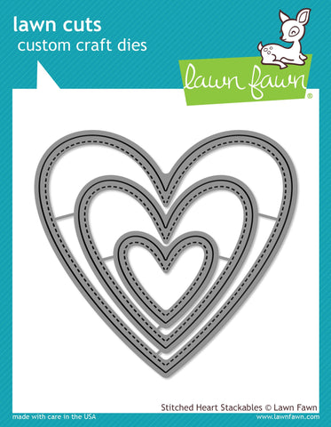 Lawn Fawn - Stitched Heart Stackables