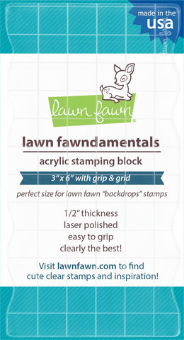 "Lawn Fawn - 3""x6"" Grip Block With Grid"