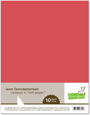 Lawn Fawn - Chili Pepper Cardstock