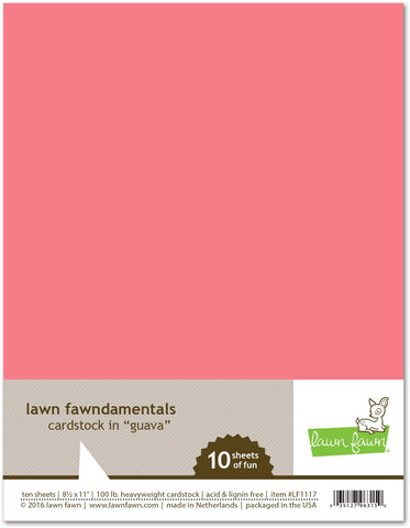 Lawn Fawn - Guava Cardstock