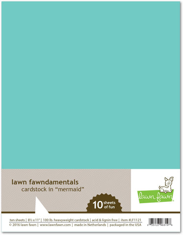 Lawn Fawn - Mermaid Cardstock