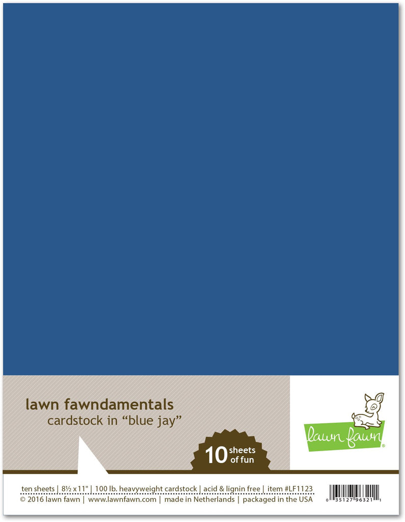 Lawn Fawn - Blue Jay Cardstock