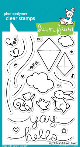Lawn Fawn Clear Stamps yay, kites!