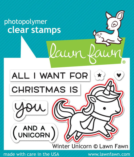 Lawn Fawn - winter unicorn lawn-cuts
