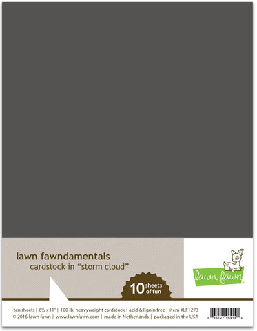 Lawn Fawn - Storm Cloud Cardstock