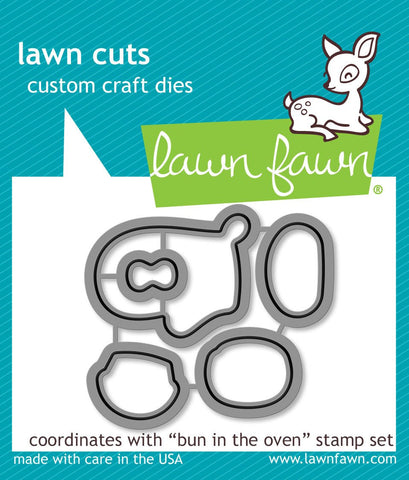 Lawn Fawn - Bun In The Oven Lawn-Cuts