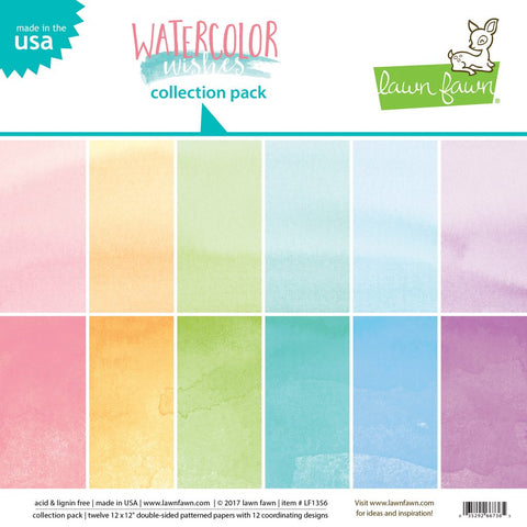 Lawn Fawn - Watercolor Wishes - Collection Pack 12x12""