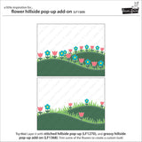 Lawn Fawn - Flower Hillside Pop-Up Add-On