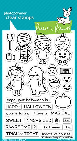 Lawn Fawn Clear stamps costume party