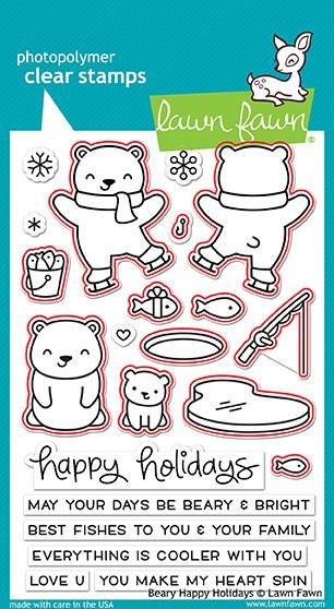 Lawn Fawn - beary happy holidays - lawn cuts