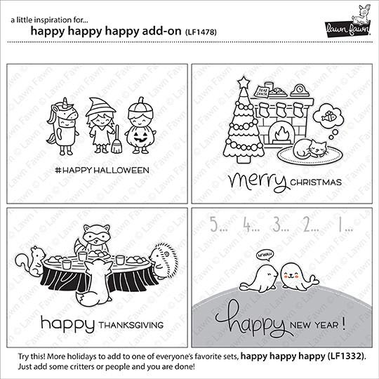 Lawn Fawn - happy happy happy add-on