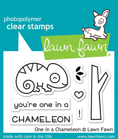 Lawn Fawn - one in a chameleon