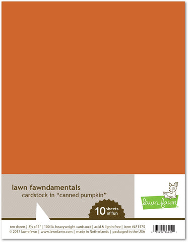 Lawn Fawn - Canned Pumpkin Cardstock
