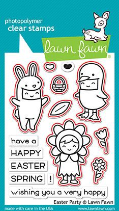 Lawn Fawn - easter party - lawn cuts