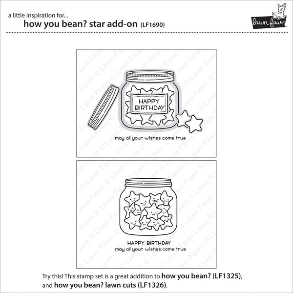 Lawn Fawn - how you bean? star add-on