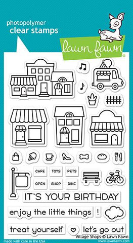 Lawn Fawn clear stamps village shops