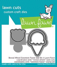 Lawn Fawn - reveal wheel sweetest flavor add-on
