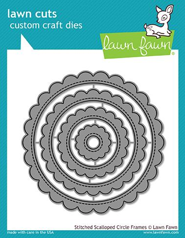 Lawn Fawn - stitched scalloped circle frames