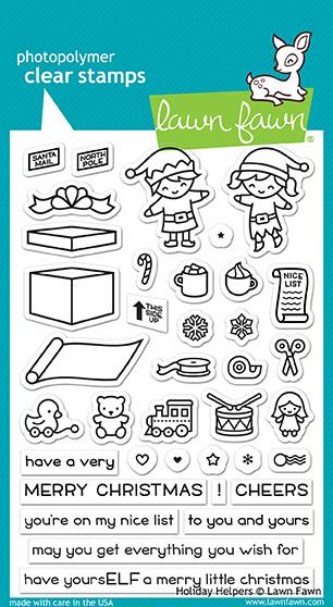 Lawn Fawn Clear Stamps - Holiday Helpers