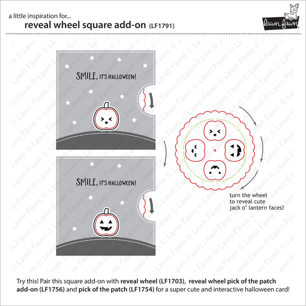 Lawn Fawn - reveal wheel square add-on