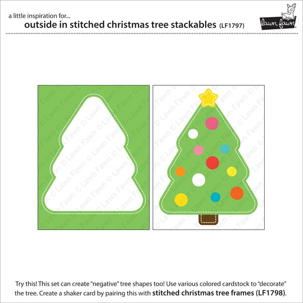 Lawn Fawn - outside in stitched christmas tree stackables